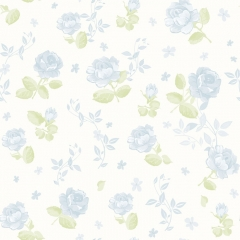 Papel Flores Azul